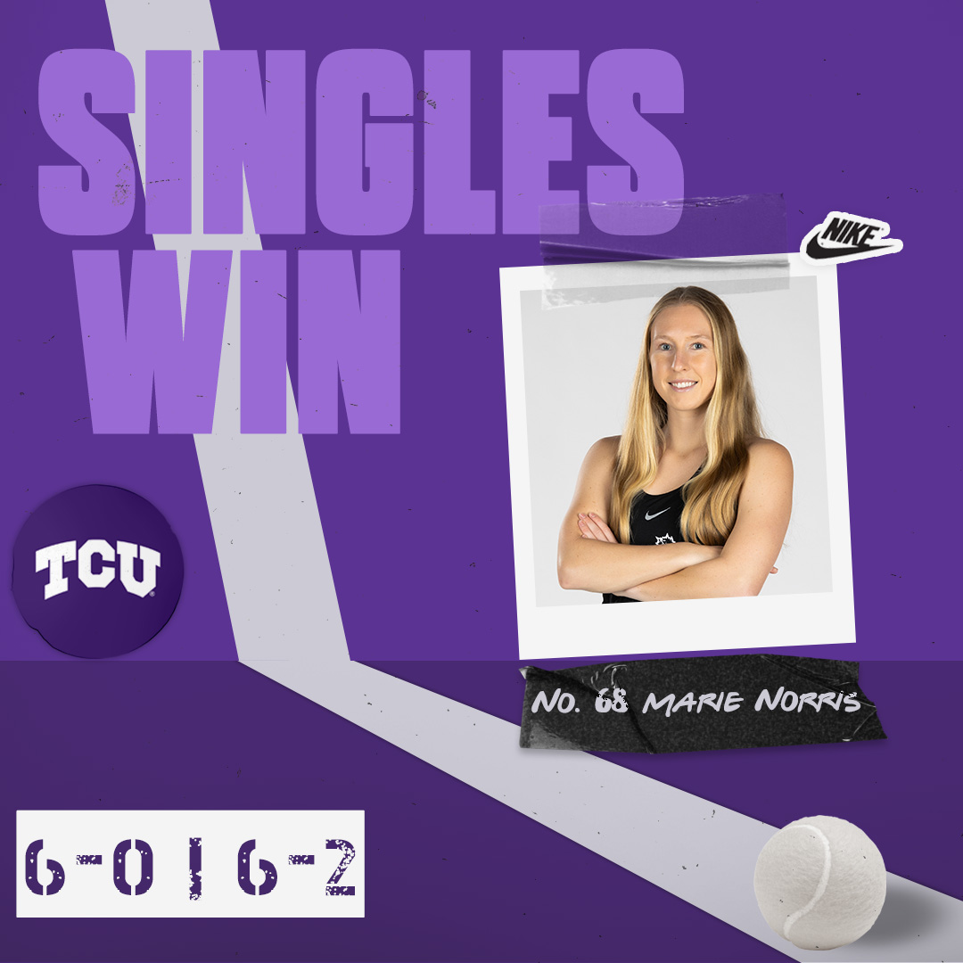 Marie clinches the win at No. 1!  #BuildBelief x #GoFrogs🐸🎾 https://t.co/RivEnkK38k