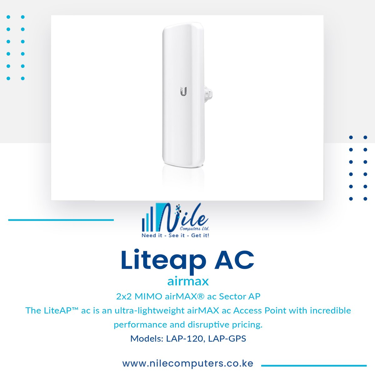 Distributor for Mikrotik, Ubiquiti UniFi, RF-Elements and other wireless, networking and connectivity products in East Africa. https://t.co/H6LriLCejl