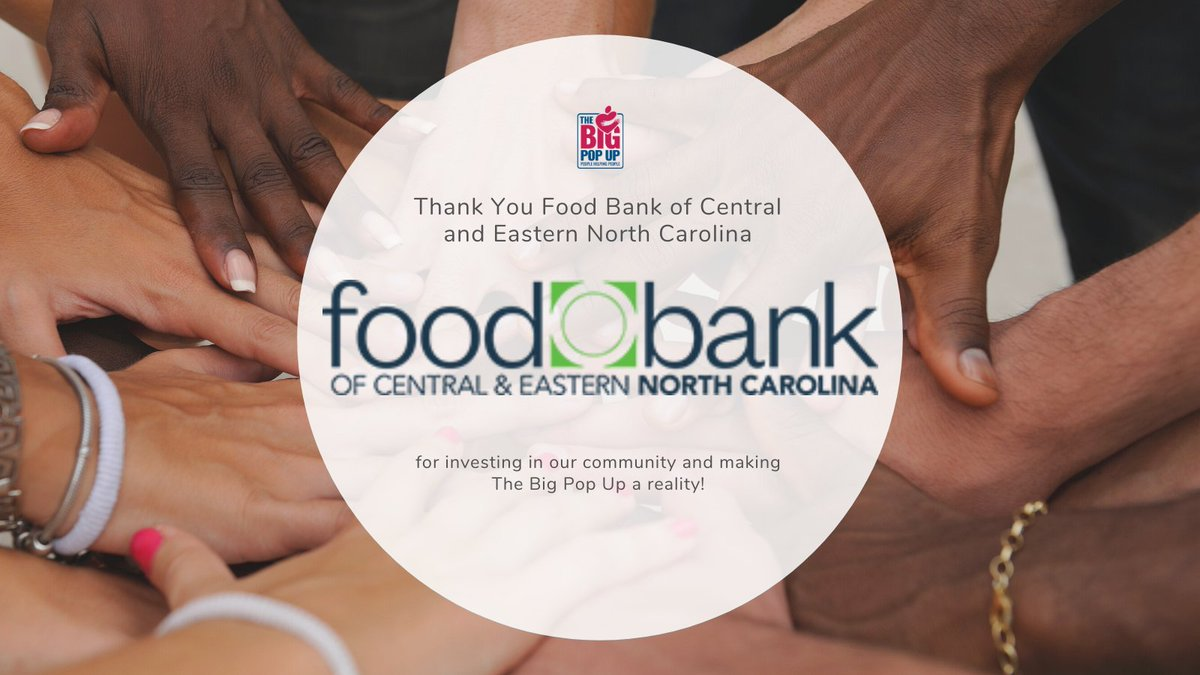 Thanks to one of #TheBigPopUp sponsors: @FoodBankCENC. They are donating 1,000 food boxes and 3,500 lbs of sweet potatoes! Thank you for investing in our community! Learn more and find food pantries near you at   #TBPU #TBPURaleigh #NCCAA #NCommunityAction