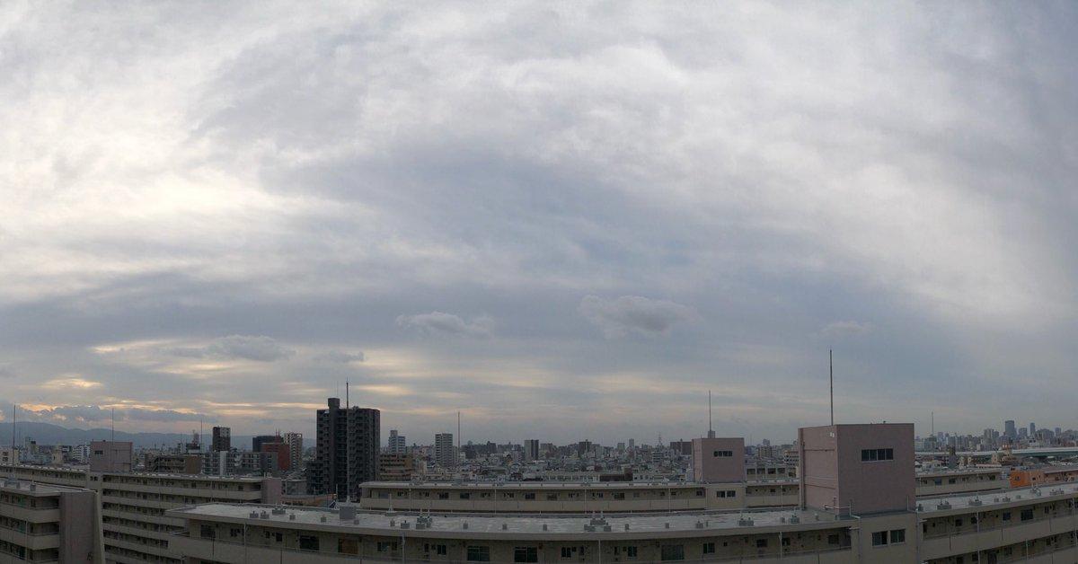 8:00a.m.  おはようございます #☁︎ #20210117 #GoodMorning  #Osaka #Japan #sky #now  #イマソラ #いまそら #空を見よう #空 #定点観測 #写真好きな人と繋がりたい #鉄道