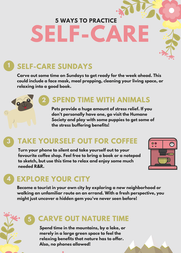 5 ways to practice Self-Care . #SelfCare  #SelfCareTips #Relax #HealthyLife #HealthyBody #Happiness https://t.co/h6xrmbfpCO