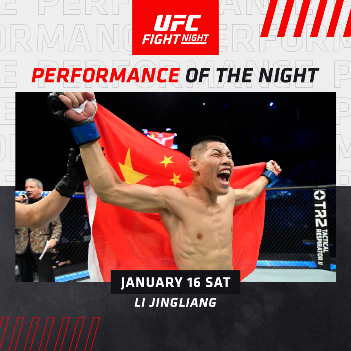 A couple of KO's that ignited the main card! 💰  💸 @UFCJingliang & @ManzoDiChirico grab the POTN bonuses.  [ #UFCFightIsland7 | #InAbuDhabi | @VisitAbuDhabi ]