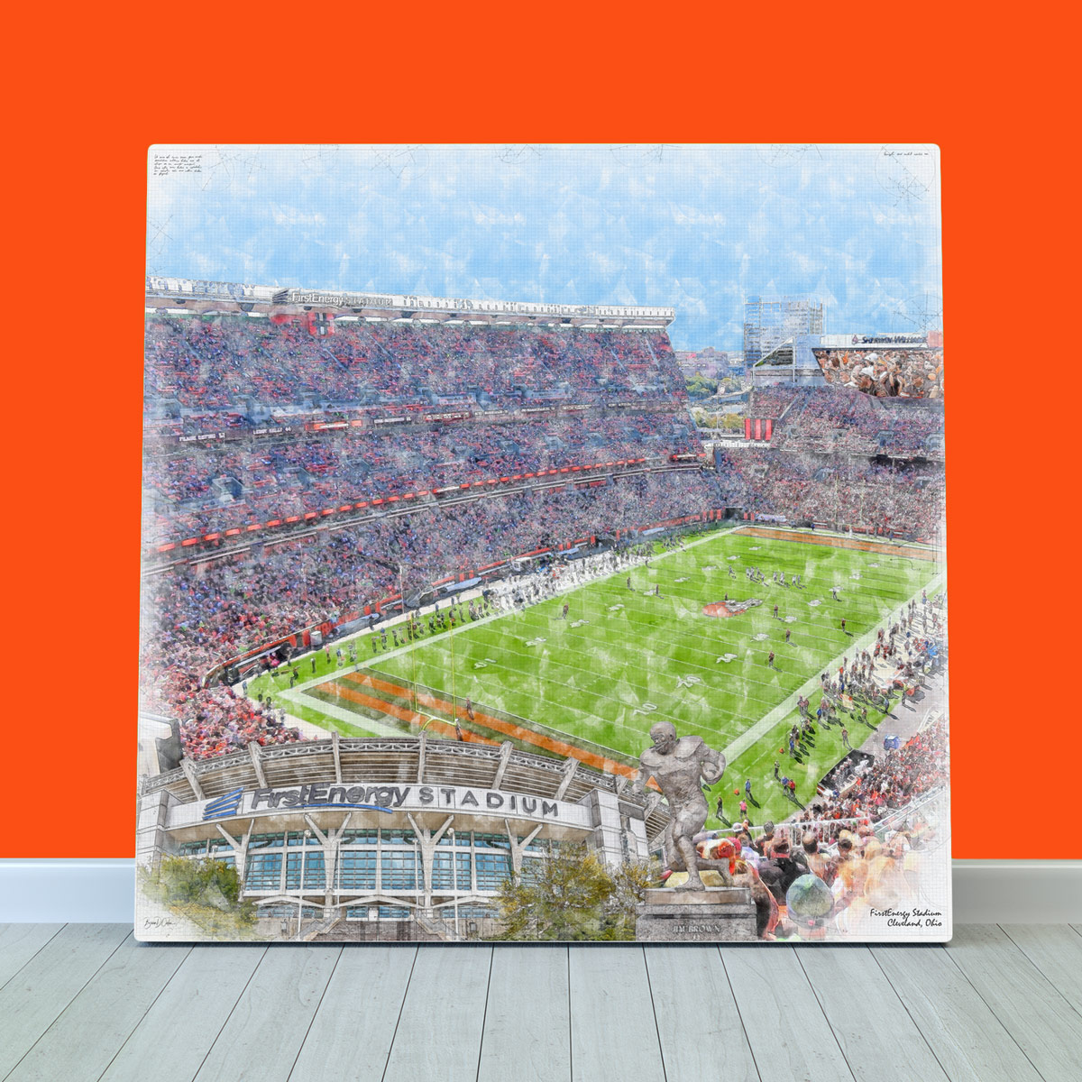 RT/Follow as I'm doing a #giveaway with @BrownsHuddle  for tomorrow's #Browns game. One person will win a stadium print. #BrownsTwitter 🏈👉
