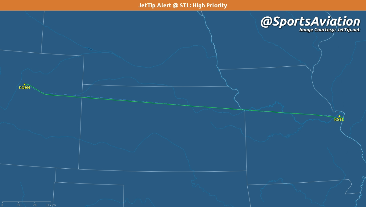 🏒 St. Louis Blues (@StLouisBlues) 🗒️ #stlblues home from opening road trip 🆚 1-1 @ Colorado Avalanche #GoAvsGo #STLvsCOL ✈️ SWQ2302 | N806TJ | B734 🛫 DEN - 12:04am MT 🛬 STL - 2:48am CT Track Here👉🏼: