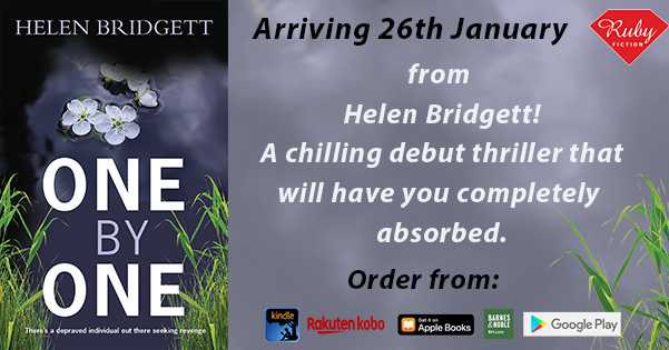 Have you spotted what's arriving later this month? 🥁 A fab debut thriller from @Helen_Bridgett You're going to love Helen's female sleuth, Professor Maxie Reddick. Pre order One by One here:   #comingsoon  #NewBook  #BookRecommendations  #thriller