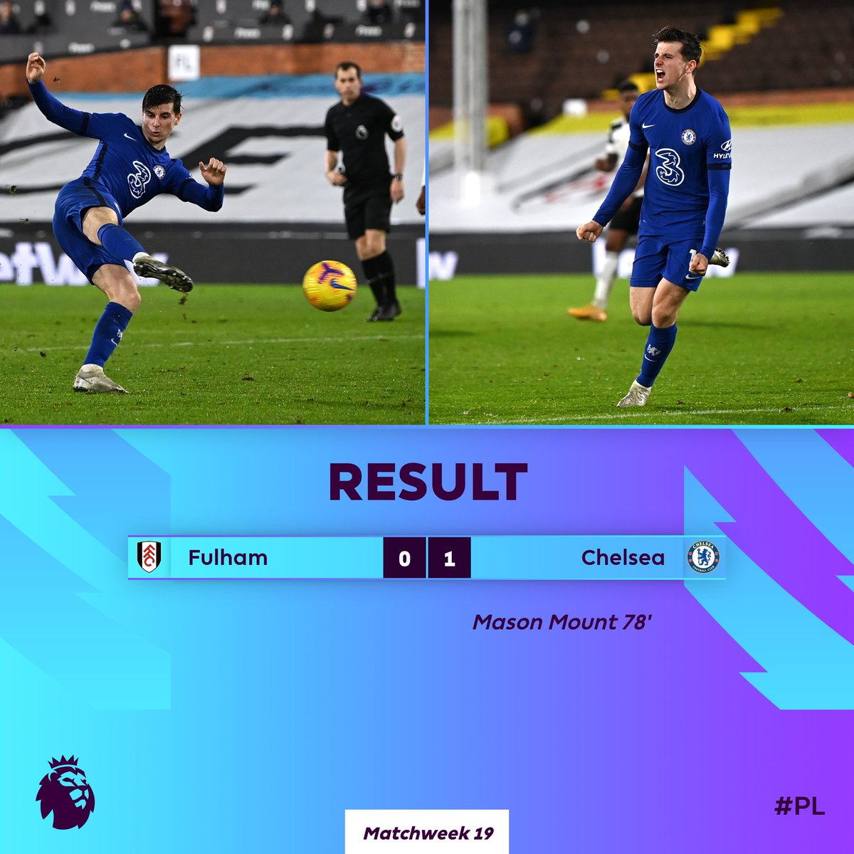 Mason Mount's goal proves to be the difference 🔵  #FULCHE
