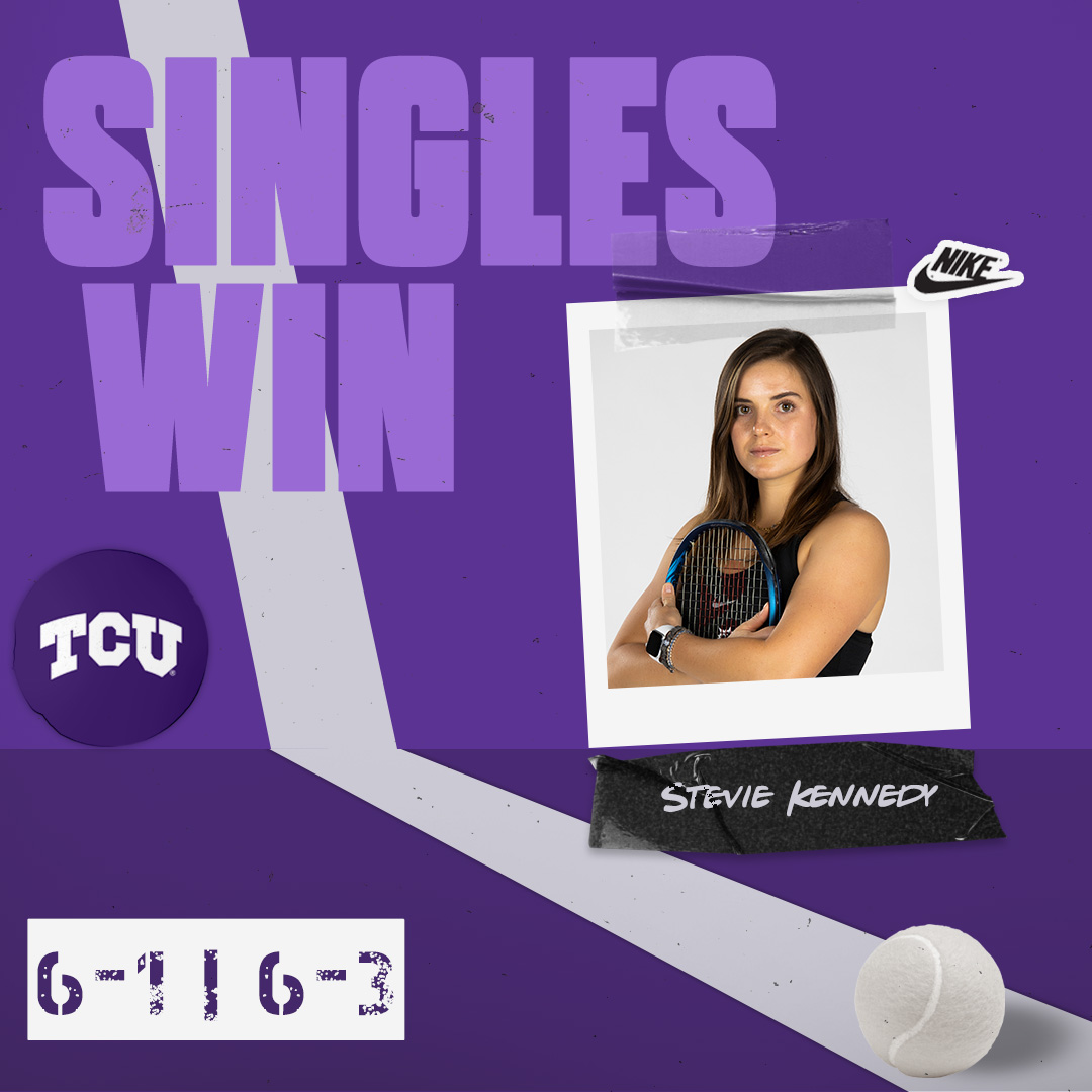 Stevie clinches it on four!  #BuildBelief x #GoFrogs🐸🎾 https://t.co/v1GStts2un
