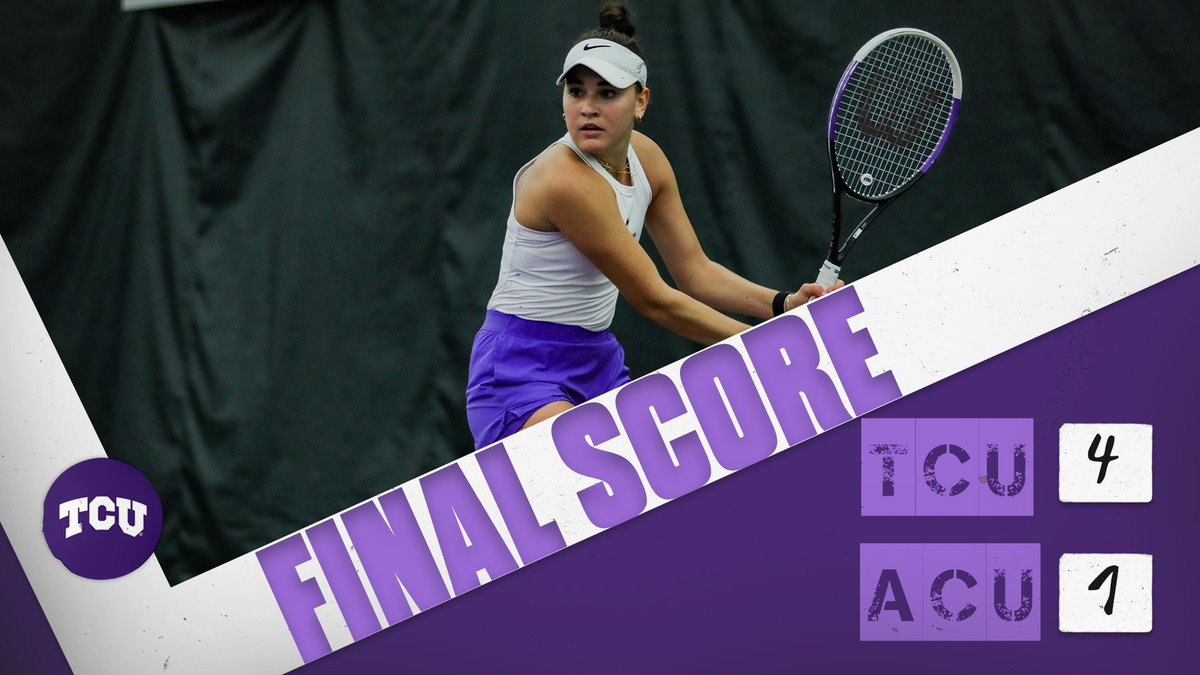FROGS WIN‼️  TCU wins its first match of the 2021 dual season over Abilene Christian.  #BuildBelief x #GoFrogs🐸🎾 https://t.co/gF6W1bgv8J