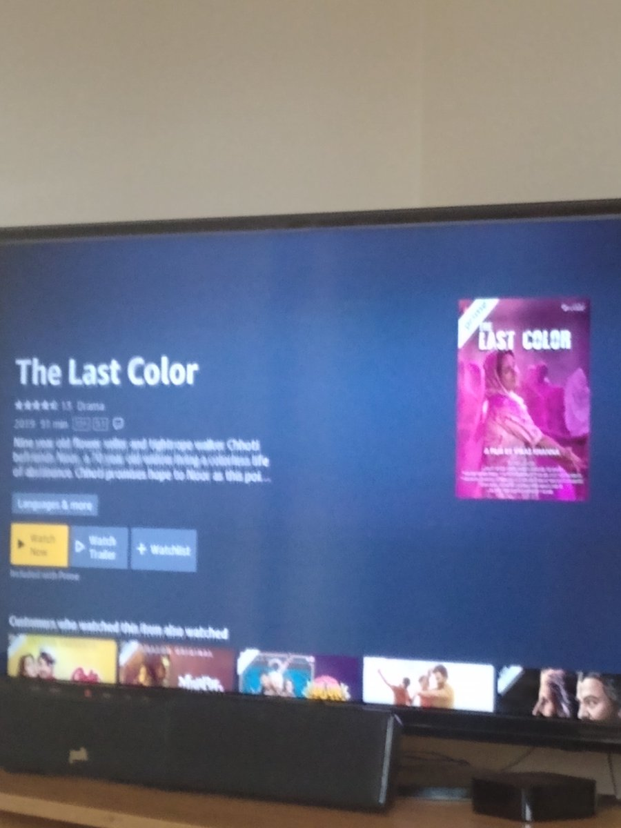"@TheVikasKhanna @VikasSwarup @bhawanasomaaya @PrimeVideoIN @amazon @AmazonUK Getting ready to watch"" The last color"" on Amazon prime. I have heard great reviews from my friends and everyone is raving about this movie. I know I will love it,Chef Vikas 👍👍❤️"