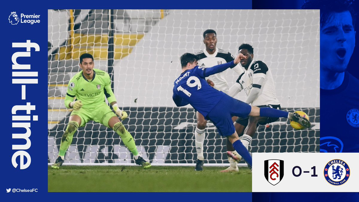 Replying to @ChelseaFC: FT. @MasonMount_10's goal wins it for the Blues! 👌   #FULCHE