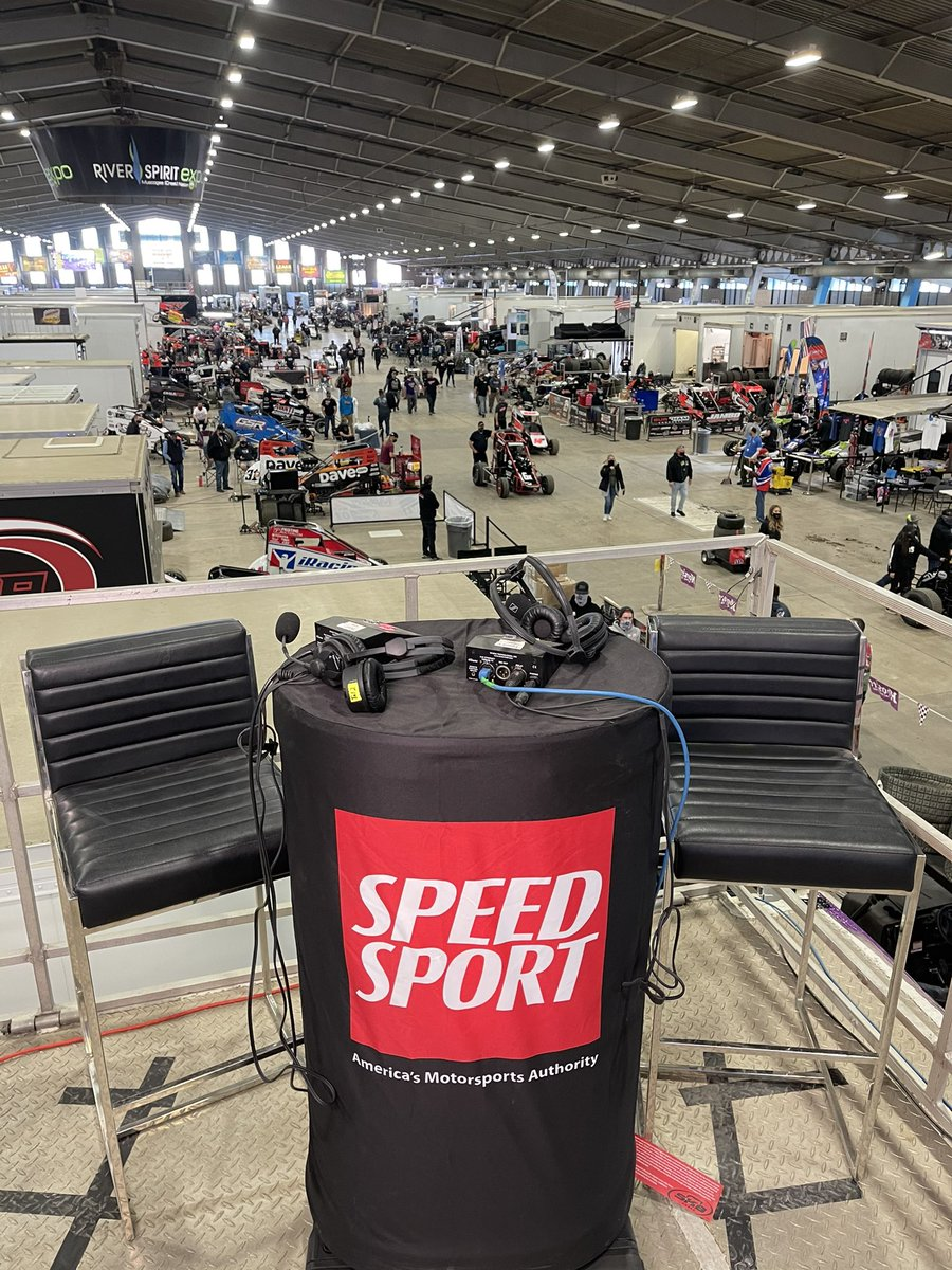 """If you're looking for me tonight I'll be right here. Hosting our first @SPEEDSPORT """"Live From"""" @cbnationals on @MAVTV Join us LIVE @ 6:30pm est!!! #goldendriller"""