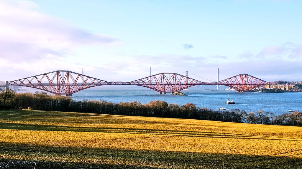 A view of all 3 Forth Bridges today #SaturdayVibes #bridge #landscape #photo #water #sunshine #coastal