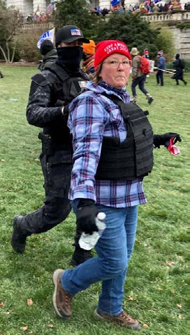 Capitol Riot Arrest-Lisa Eisenhart was taken into custody by FBI Agents in Nashville a short time ago on charges relating to the U.S. Capitol riots. Charges include conspiring with her son, Eric Munchel to violate federal statutes.