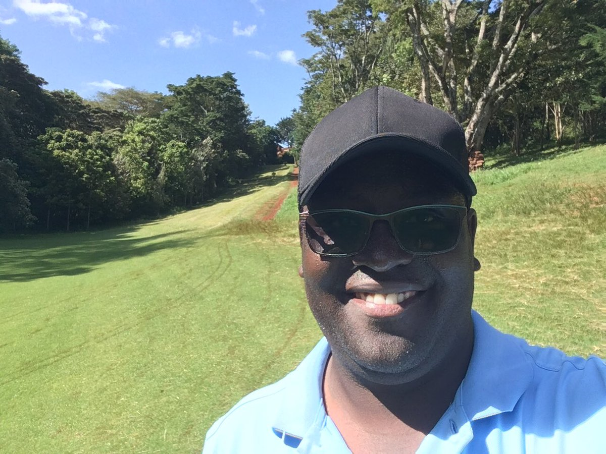 """⛳️🏌🏿♂️is Fun for real. After more than #7 days break, be assured I got a very """"warm"""" welcome by the magnificent #golfcourse. I enjoyed the round of ⛳️🏌🏿♂️ though . #golfFun #golfing #golf"""
