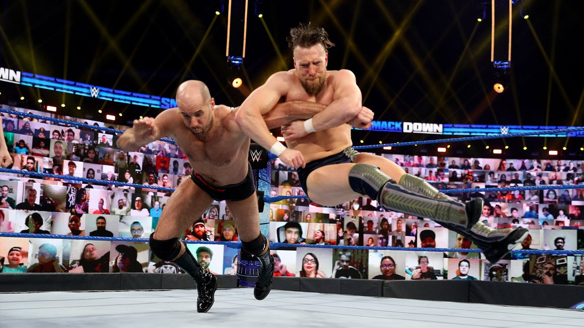 .@WWECesaro won't let ANYTHING get in his way. Not even @WWEDanielBryan during last night's #SmackDown ⚡️ https://t.co/seFIVtZ8mn