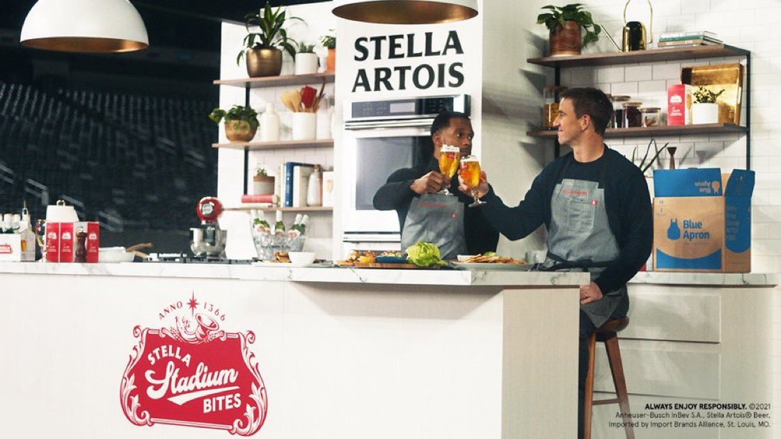 You know I love to eat. But cook? I'm still learning there.    Thanks to @StellaArtois, @TeamVic and I had a blast taking Game Day meals to the next level. Order your own meal kit before The Big Game here:  #StellaStadiumBites #ad