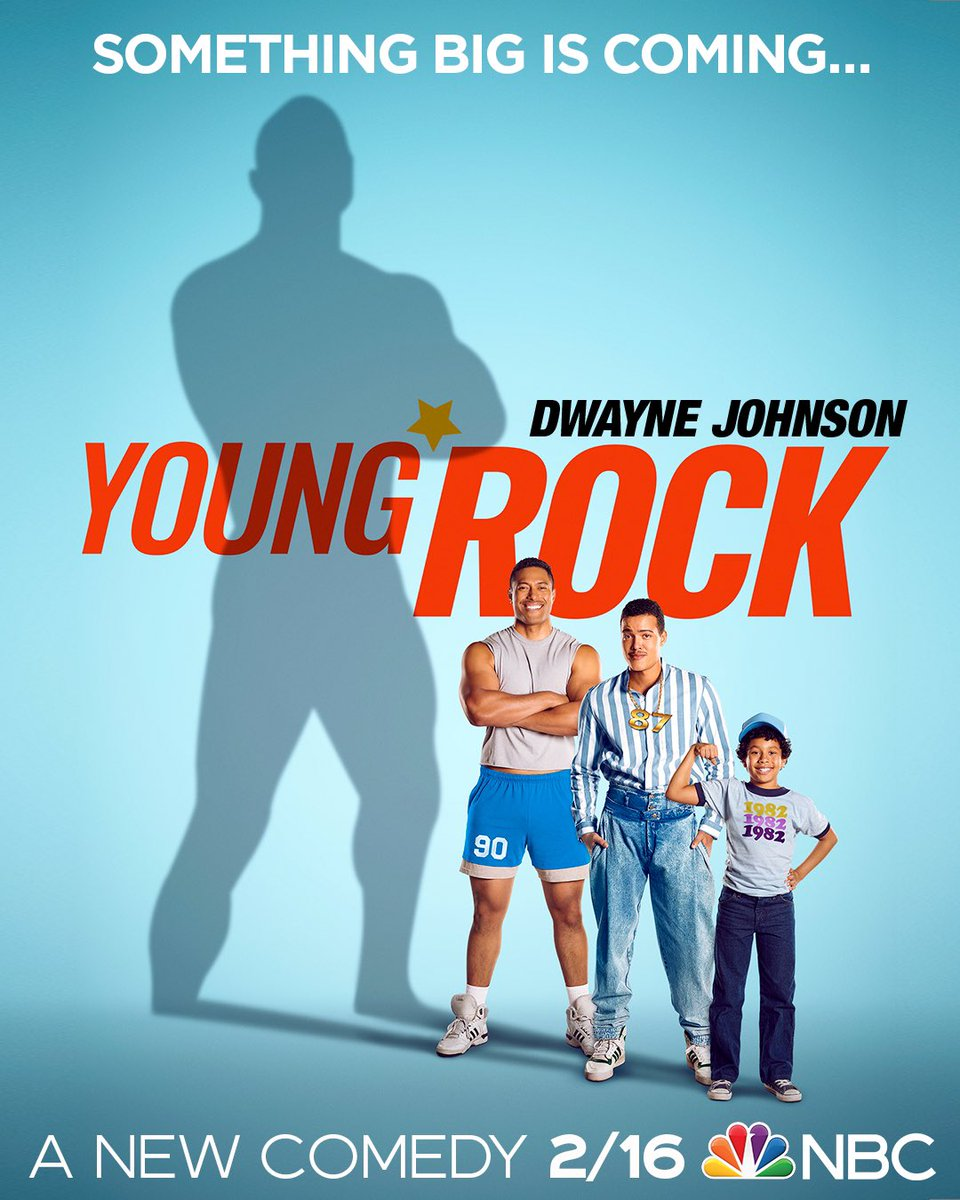 Something big is coming, one month from today! Follow the larger than life upbringing of @therock, when #YoungRock premieres 2/16 on @NBC!