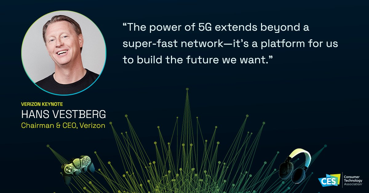 5G is supercharging innovation in one sector after another.   Relive the @Verizon keynote from CES 2021 https://t.co/6fdi0xwMgv https://t.co/w2WpNYMsOp