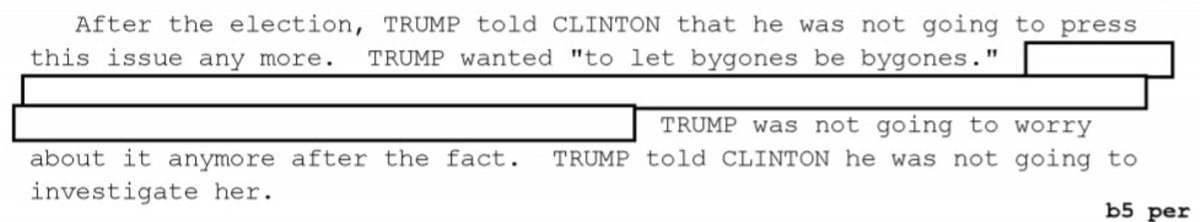 This is from the newly released Flynn 302s.   Trump let bygones by bygones. In return, Team Hillary organized a coup.