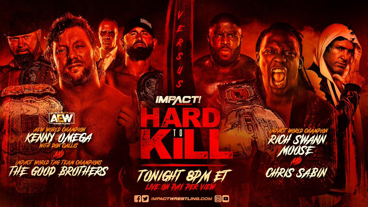 The number 4⃣ and @IMPACTWRESTLING #HardToKill have a lot in common. Its the number of commentary languages available for tonights mega PPV! Enjoy the show in: English🇺🇸 Spanish🇪🇸 German🇩🇪 French🇫🇷 ✳️ Replay window included Order it tonight on #FITE: fite.tv/watch/impact-w…