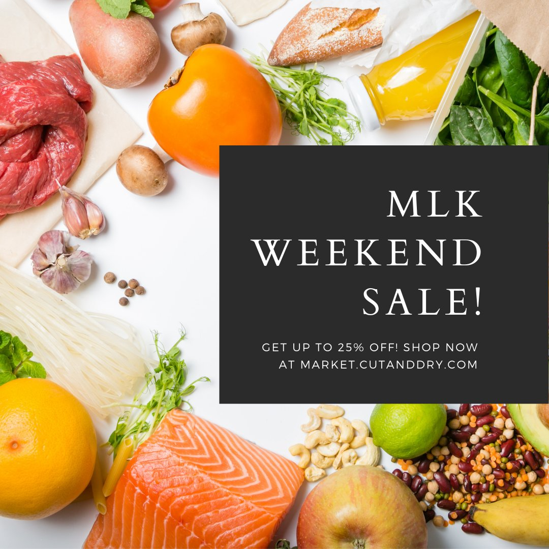MLK Weekend Sale: 15% on Orders over $150, Save 20% on Orders over $250, Save 25% on Orders over $350!   https://t.co/ngywt2K5CY  #highquality #chef #culinary #longweekend #chefsroll #TheMarketByCutAndDry #EatLikeAChef #sale #MLKweekend https://t.co/f7BPUKiNFl