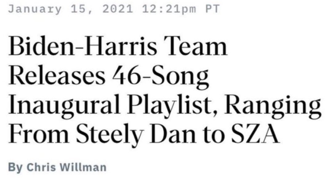 Its going to be fun having an administration that can play any great song it wants and not immediately get a cease and desist letter from the artists. (And its fitting that they chose a band named after a dildo, Steely Dan, in Donalds memory.)