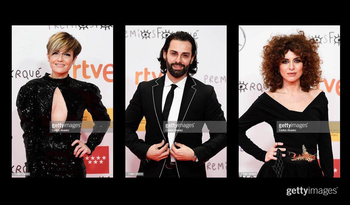 Cayetana Cabeza, Carlo D'Ursi and Sara Escudero attend 'Jose Maria Forque Awards' 2021 red carpet at IFEMA in Madrid, Spain More 📸 #Forqué2021 https://t.co/8VgGppFO6D  #JoseMariaForqueAwards #CayetanaCabeza #CarloDUrsi #SaraEscudero https://t.co/USgtE4dXml