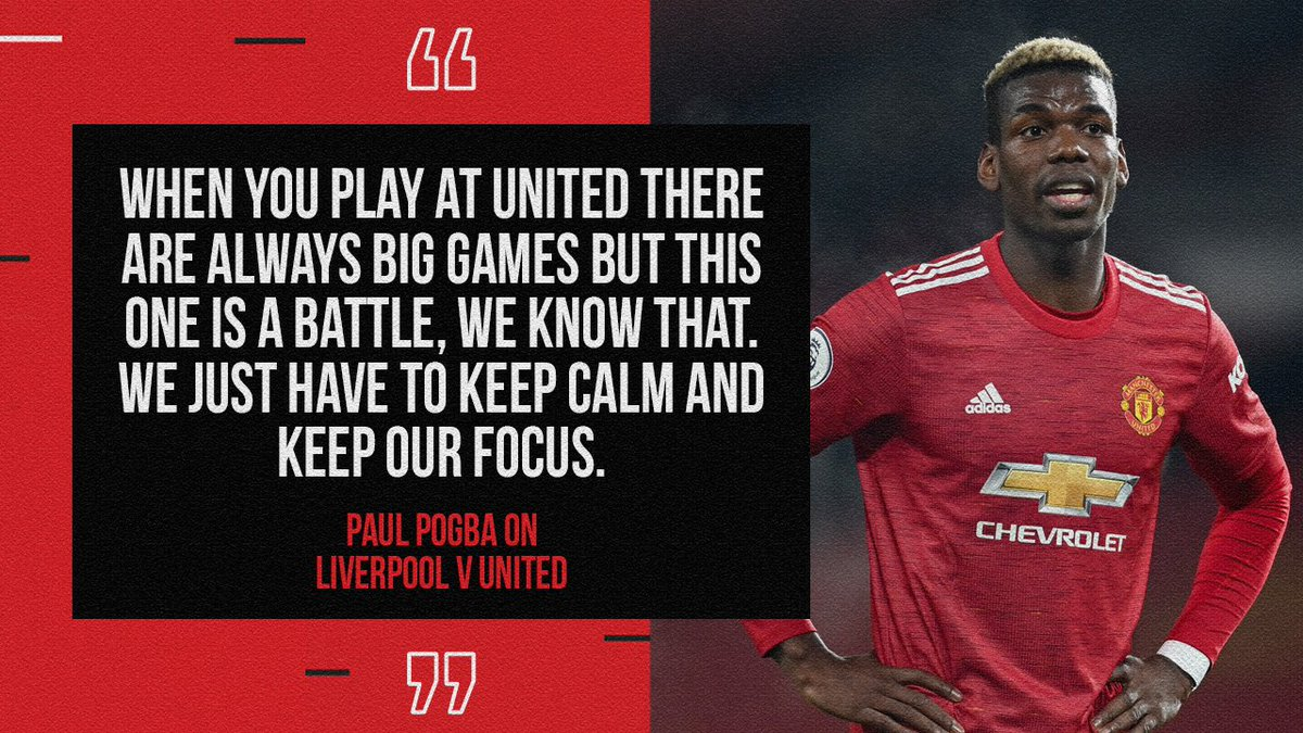 💪 @PaulPogba knows what we have to do.  #MUFC #LIVMUN