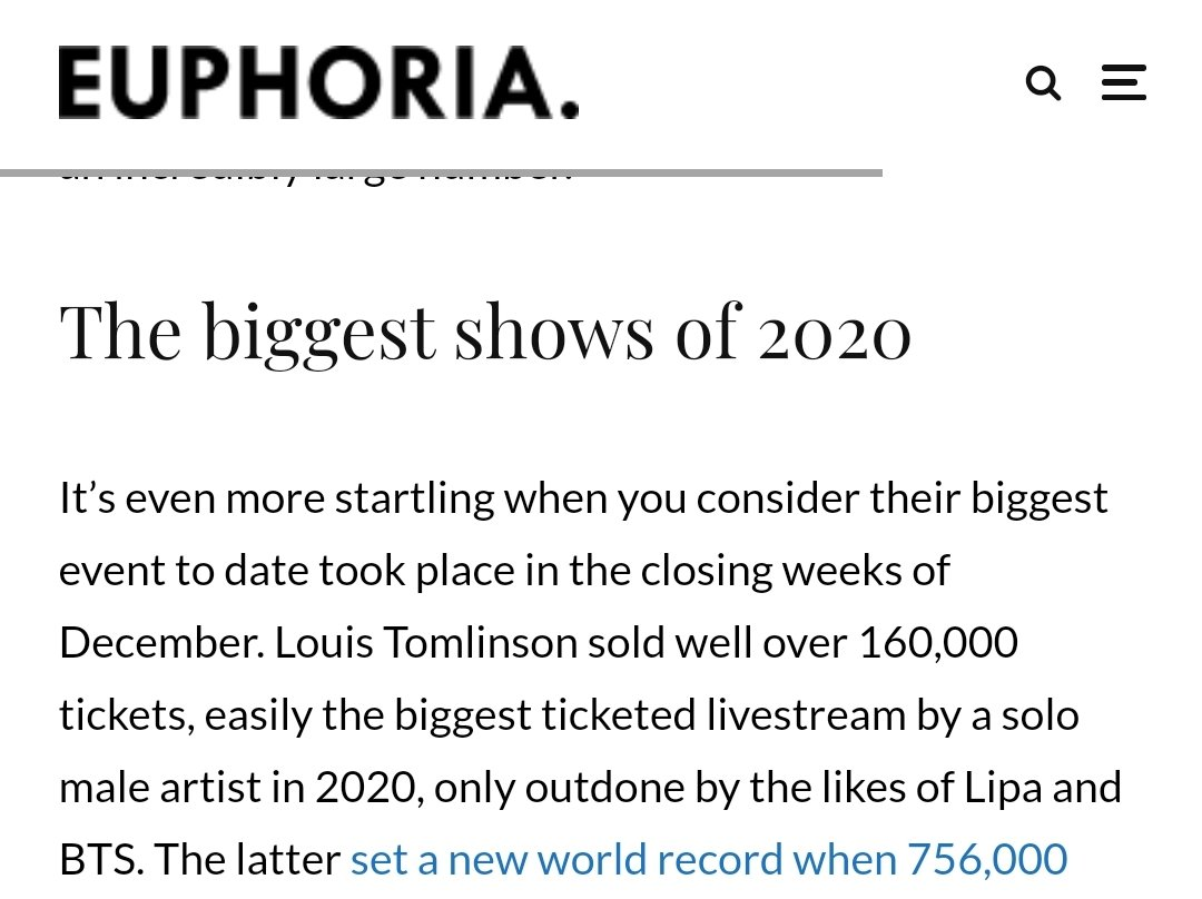 The #LTLivestream by @Louis_Tomlinson was mentioned in this article by @euphoriazine!