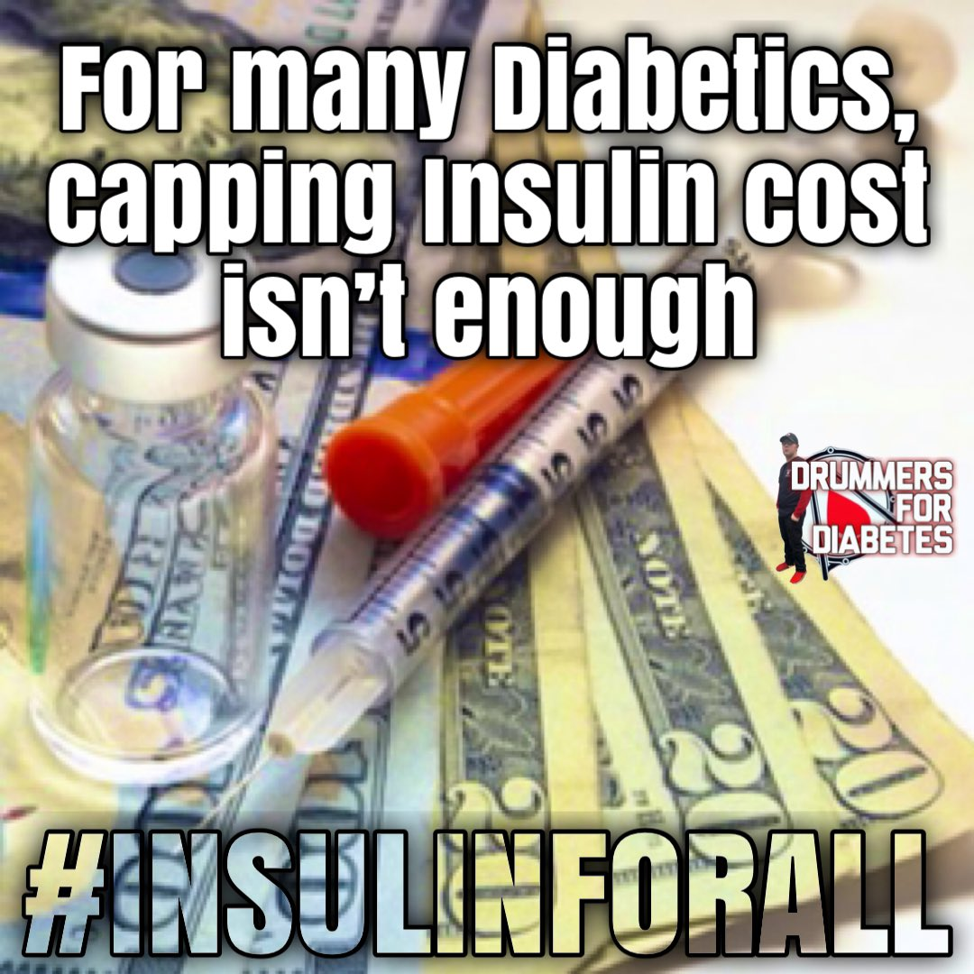 For many diabetics, capping insulin cost isn't enough 💙🥁🩸  #truth #Facts #affordablediabetessupplies  #curediabetes #curetype1diabetes  #drummersfordiabetes #insulinforall #insulin4all #ndam #diabetes #diabetesawareness #jdrf #diabetic #diabetestype1  #type1diabetes