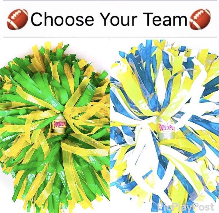 Let's have some fun! Who ya rooting for? Right @PoundPoms or Left PoundPoms® Game 1. #gopackgo or #RamsHouse Game 2. #BillsMafia or #RavensFlock #larvsGB #BALvsBUF #NFL #nflplayoffs #doitweighted #weightedpompoms #weightedpoms #fitness