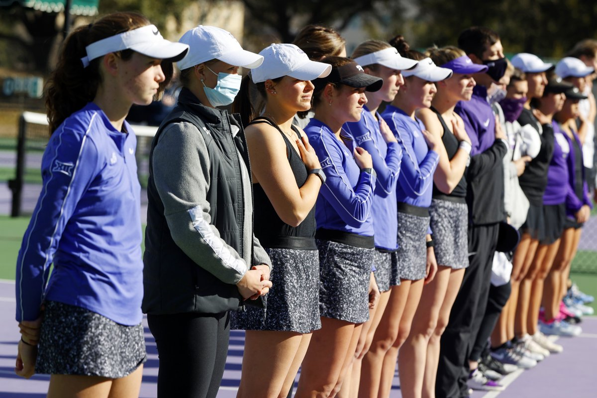First win is in the books. Time to go for ✌️  TCU vs. Tarleton St. coming up in 30 minutes.  #BuildBelief x #GoFrogs🐸🎾 https://t.co/MkY1M0jIsh