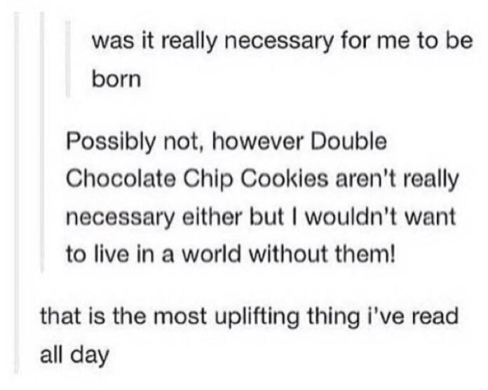 Really glad that #double #chocolate chip cookies exist 🥰