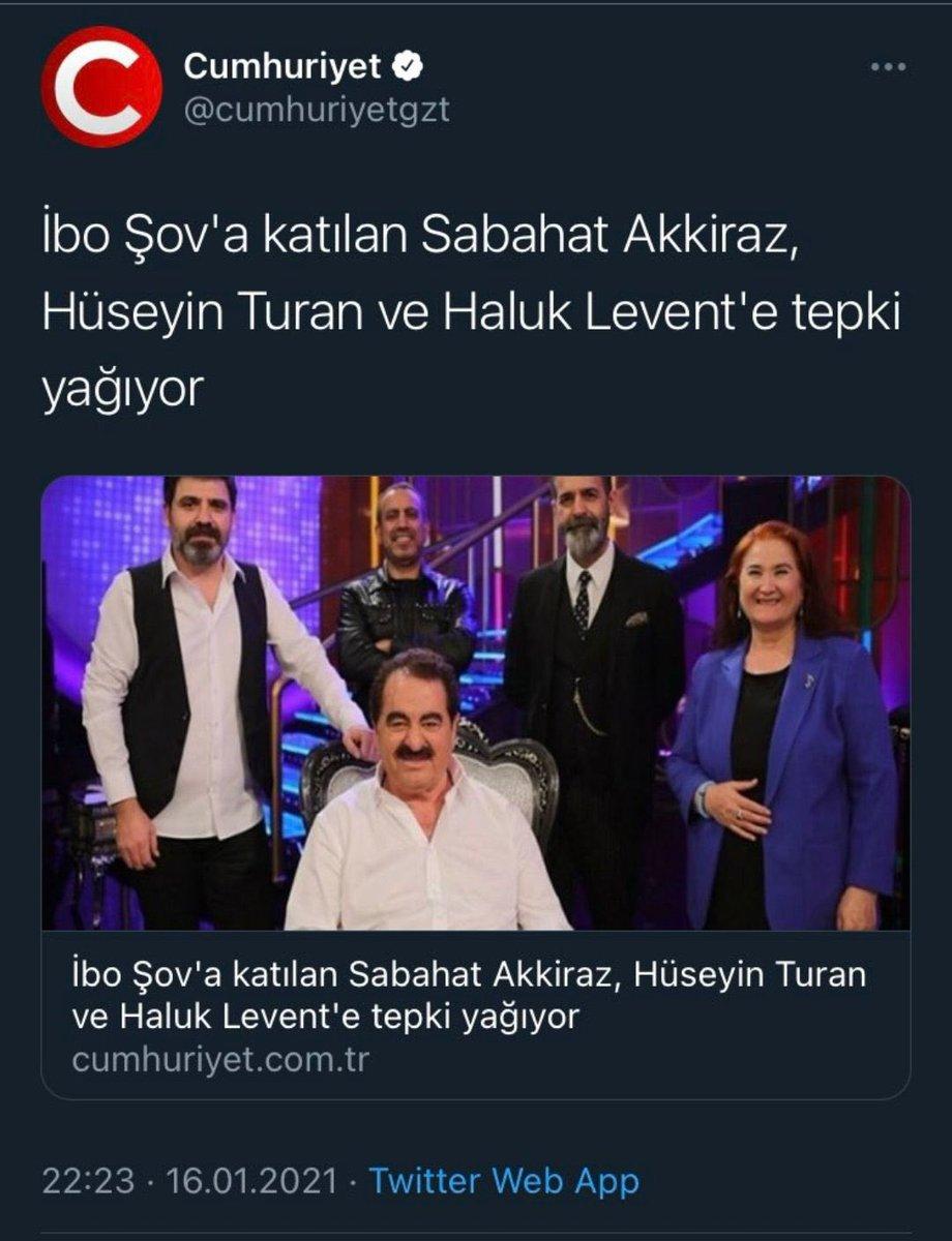 """Aslı Ay Dinçer on Twitter: """"İbrahim Tatlıses sadece Erdoğan'ı destekledi diye programa katılan diğer sanatçıları linç ediyor muhalifler. Bunlar iktidara gelse bu nefretle insanları çiğ çiğ yerler. #iboshow… https://t.co/DwI4KpNDxG"""""""
