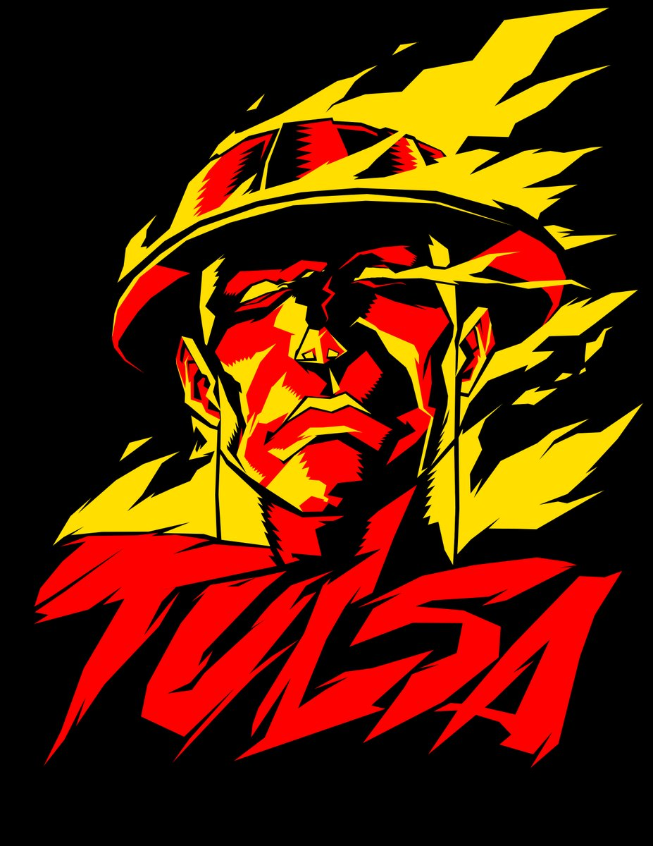 my friend Taylor Hemphill has created a collaboration clothing line for local artist called @Tulsacollabco   they do shirts, stickers, buttons and prints. check out the first design of mine you can order merch at  #tulsa #goldendriller #Oklahoma #art