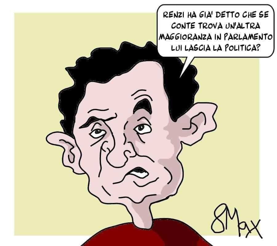 Mentre il Presidente #Conte cerca di salvare in extremis maggioranza e Governo, Massimo Ottavi, in arte 8Max, si pone una domanda...  #crisidigoverno  #vignettistiperlacostituzione 🇮🇹