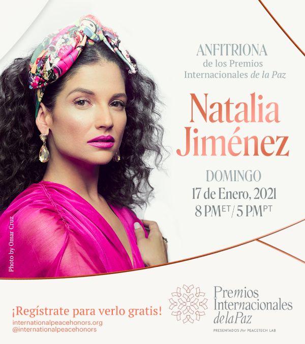 @NataliaJimenez  Jiménez presentará los Premios Internacionales de la Paz  Rendirán homenaje a Ricky Martín y Ricardo Montaner  @notistarz  Síguenos