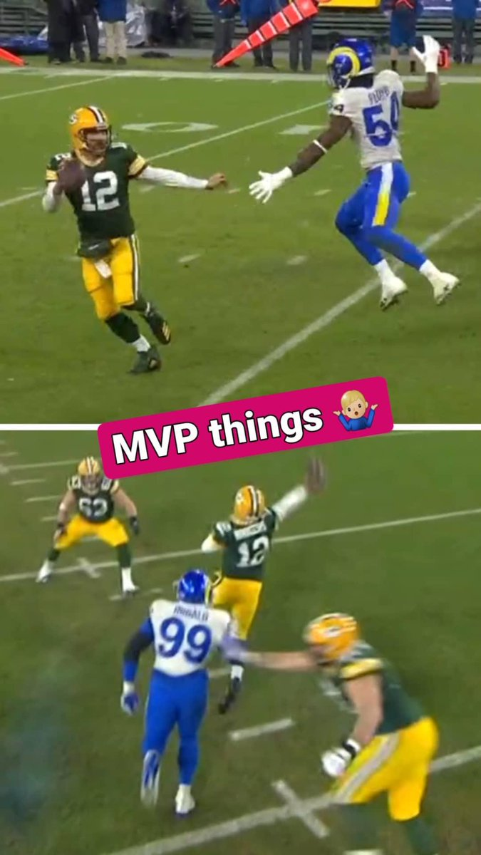 MVP things 🤷🏼‍♂️  @AaronRodgers12 @packers #NFLDivisionalRound #LARvsGB