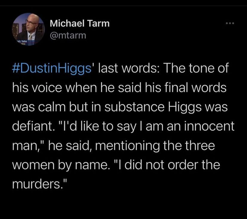 this is so bad. do better. the petition had almost 2 million signatures. #DustinHiggs