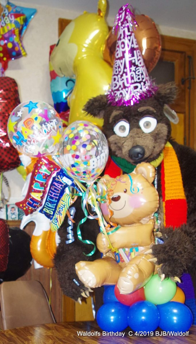 #ThrowbackThursday #TBT #Waldolf with his #teddybear tabletop column #Balloon from #ItsMyParty in Dyer IN. he he had for his birthday last year He wonders of he will have something like this again for his birthday in April   #fursuit #fursuiter #fursuiting #Bear #costume