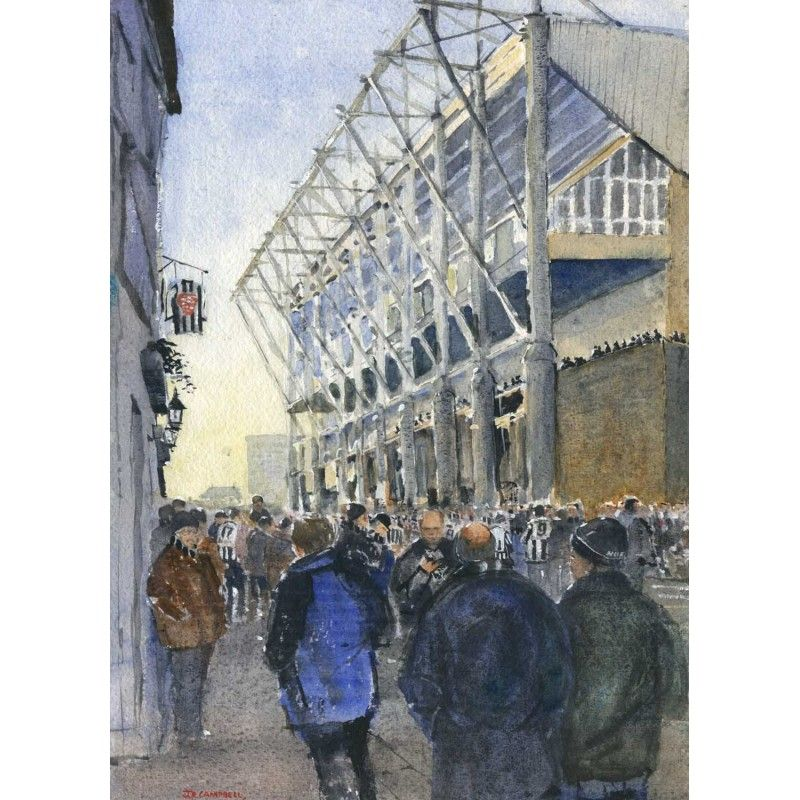 Before The Game by Ray Campbell  #NewcastleUnited #NUFC #painting Signed limited edition prints available. Buy now and get free UK mainland delivery