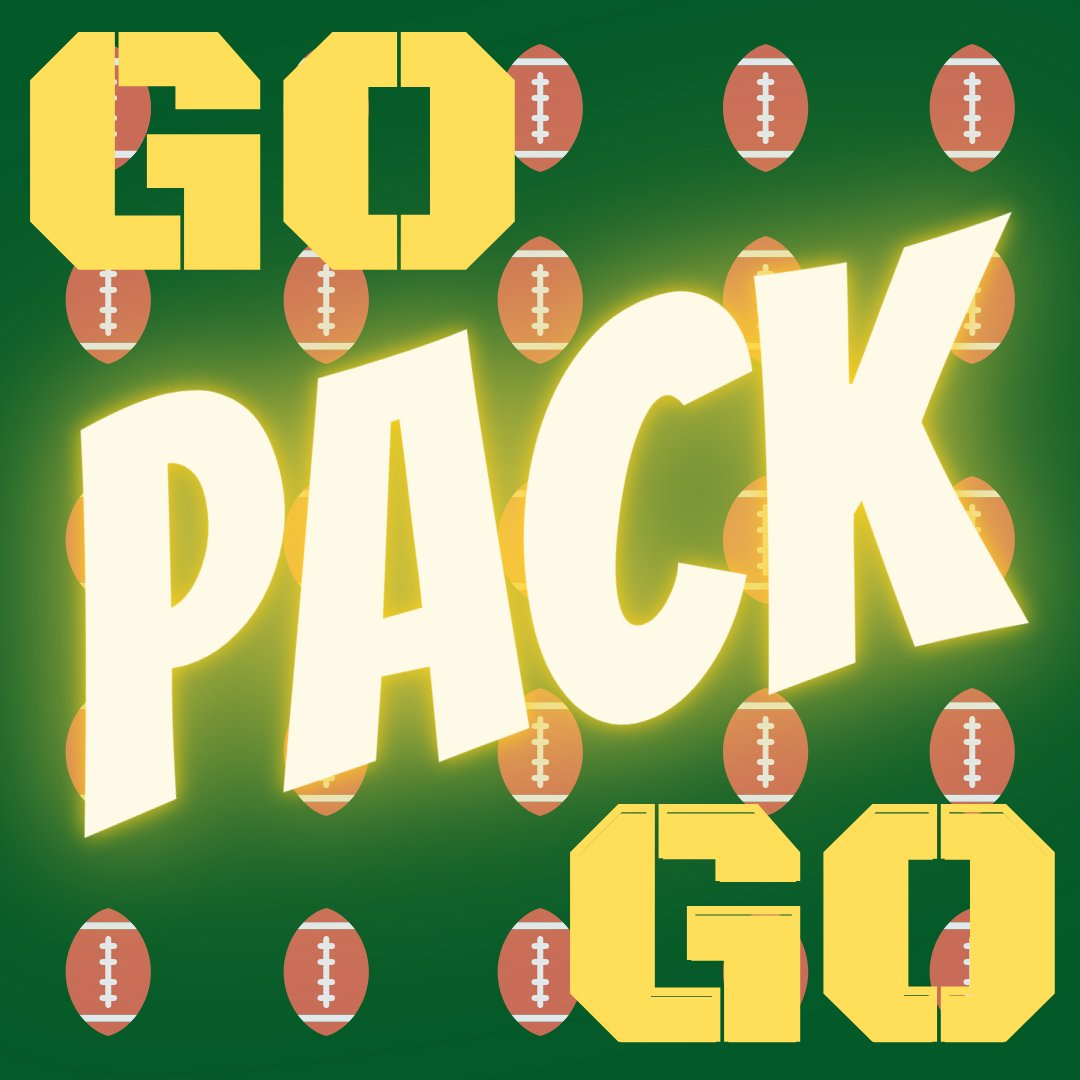 🏈💚💛Are you ready for some football?!💛💚🏈  #Playoffs #NFL #GoPackGo #GreenAndYellow #Cheesehead