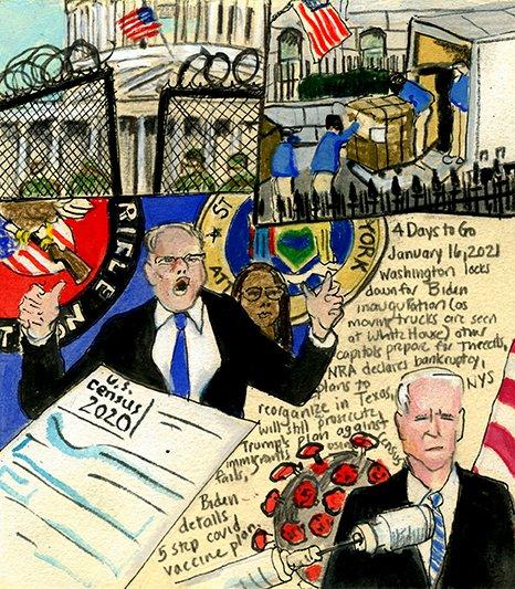@hansilowang Diary ofa Radio Junkie: 1883Days of Waking Up to the News #FBI #CapitolSiege #StateCapitols #insurrection #MovingDay #WhiteHouse #Census2020 #siege #DC #RightWIngDomesticTerrorists #NRA #NRABankruptcy #WayneLaPierre #TishJames #BidenCovid #Covid_19 #Covid #painting