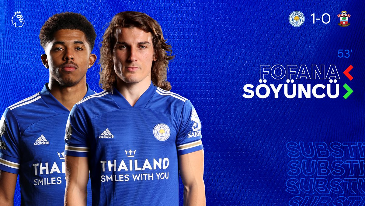 Replying to @LCFC: Fofana makes way for Söyüncü in our first change 🔄  #LeiSou