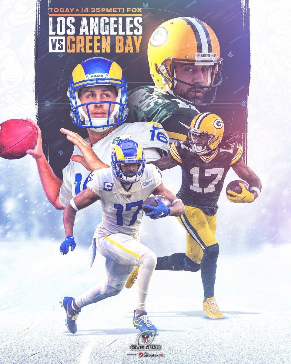 I don't think that I need to say who I've got in this one but just in case...  GO PACK GO!! 💚🏈💛 #LARvsGB #NFL #NFLPlayoffs #GoPackGo #DivisionalWeekend