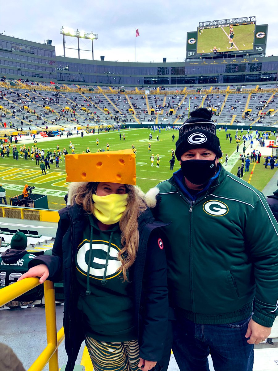 After being so isolated for so long, I feel incredibly blessed to have this opportunity to scream loud for my team (not just at my TV). We promise to #GetLoudLambeau as best as we can 😷 !   #GoPackGo