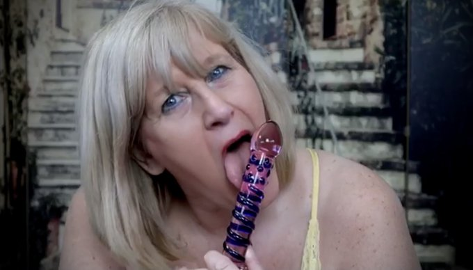 Taking my Hard Glass Dildo. New video at #OnlyFans ONLY $3.99 for a full month enjoy over 5000 filthy