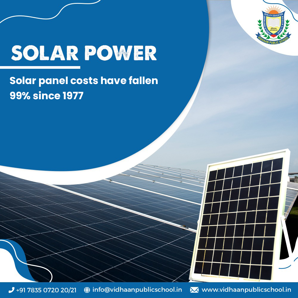 Solar power is the most reasonable and never ending source of energy. The world is moving towards solar innovation to fight climate change.  #VidhaanSchool #school #ozone #atmosphere #oxygen #life #cfc  #teach #learn #students #solarpower #solarenergie #solarinstallers