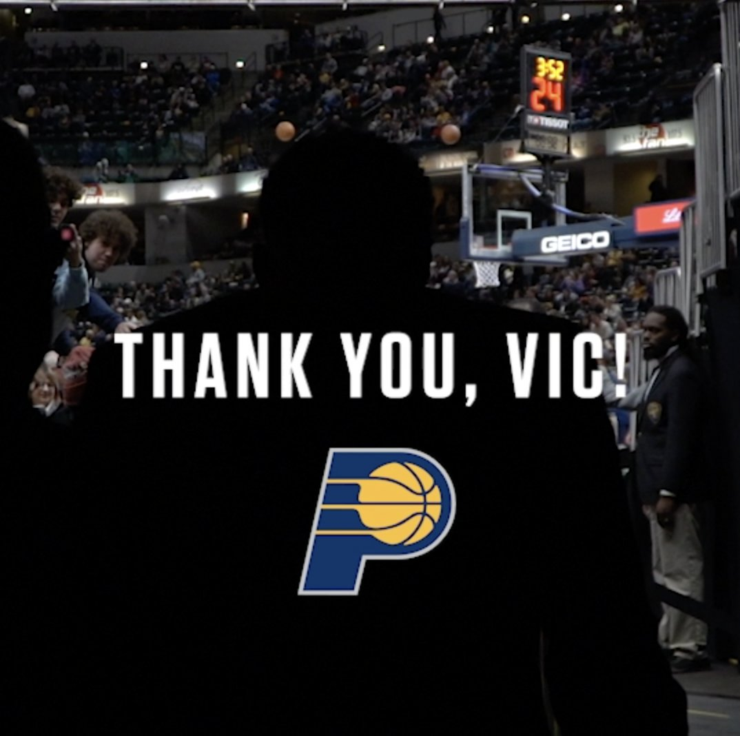 Thank you, @VicOladipo, for being great on and off the court 💛💙