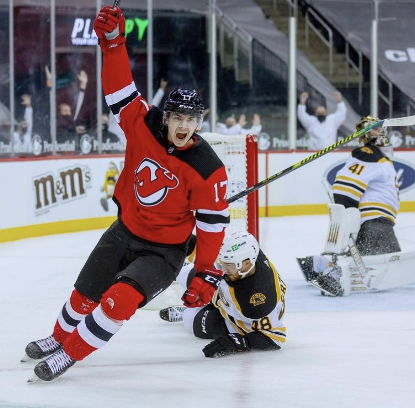 3/4 points against the 2020 President Trophy Winning Bruins   No Hischier, No Bratt, No Vatanan   We have nothing to lose....   Believe in Jersey.   #NJDevils